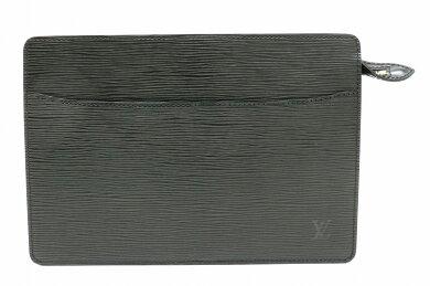 【バッグ】LOUISVUITTONルイヴィトンエピポシェットオムセカンドバッグハンドバッグクラッチバッグレザーノワール黒ブラックベタなしM52752【中古】【k】