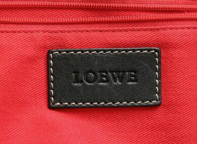 【バッグ】LOEWEロエベロゴトートバッグラージトートショルダーバッグショルダートートステッチレザーブラック黒【中古】【k】