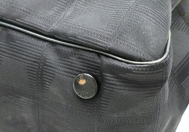 【バッグ】CHANELシャネルニュートラベルラインミニボストンバッグハンドバッグナイロンジャガード黒ブラックA15828【中古】【k】