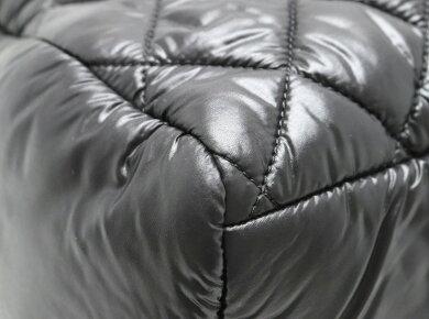 【バッグ】CHANELシャネルコココクーンナイロンキルティングトートバッグハンドバッグ黒ブラックボルドーA48619【中古】【k】