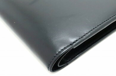 【財布】Cartierカルティエパシャラインパシャドゥカルティエ2つ折財布カーフレザー黒ブラックシルバー金具L3000137【中古】【k】