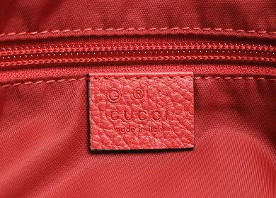 【新品未使用品】【バッグ】GUCCIグッチGGナイロントートバッグ2WAYショルダーバッグ斜め掛けレッド赤レザーアウトレット品510333【k】