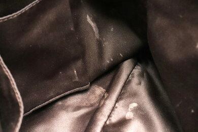 【バッグ】COACHコーチアシュレイシグネチャーサテンキャリーオールハンドバッグショルダーバッグカーキベージュダークブラウンF15510【中古】【s】