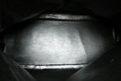 【バッグ】FENDIフェンディペカン柄ハンドバッグPVCレザーカーキブラック黒ブラウン茶ゴールド金具【中古】【s】