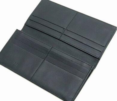 【財布】dunhillダンヒルアボリティーズ2つ折長札入れレザー黒ブラックシルバー金具L2R910A【中古】【s】
