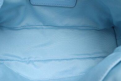 【バッグ】COACHコーチラグジュアリークロスグレーンレザーミニコーラドームドサッチェル2WAYハンドバッグショルダーバッグ斜め掛けライトブルー水色F34090【中古】【s】