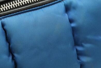 【バッグ】PRADAプラダテスートボンバー2WAYハンドバッグトートバッグショルダーバッグ斜め掛けナイロンレザーブルー青ブラック黒BN2636【中古】【s】