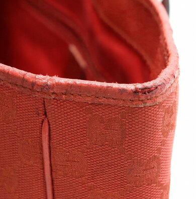 【バッグ】GUCCIグッチGGキャンバストートバッグショルダーバッグショルダートートレザーレッド赤113019【中古】【s】