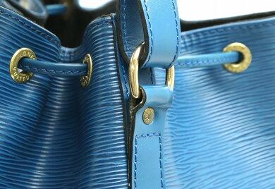 【バッグ】LOUISVUITTONルイヴィトンエピプチノエ巾着ショルダーバッグワンショルダーセミショルダーレザートレドブルー青M44105【中古】【s】