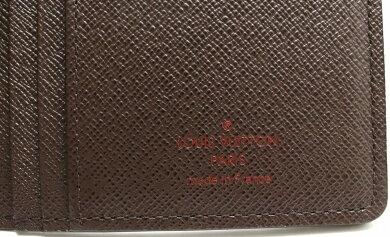 【未使用品】【財布】LOUISVUITTONルイヴィトンダミエポルトフォイユブラザ2つ折長財布N60017【中古】【s】