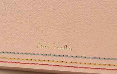 【未使用品】PaulSmithポールスミスカードケース名刺入れレザーカーフピンクマルチカラーPWD612【中古】【s】