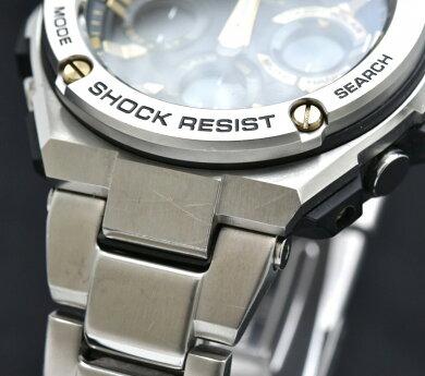【ウォッチ】CASIOカシオG-SHOCKGスチールソーラー電波メンズ腕時計GST-W110D-1A9JF【中古】【k】