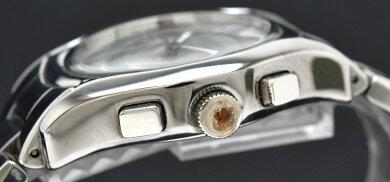 【ウォッチ】EMPORIOARMANIエンポリオアルマーニクロノグラフデイトグレー文字盤クォーツメンズ腕時計AR-1465AR1465【中古】【k】