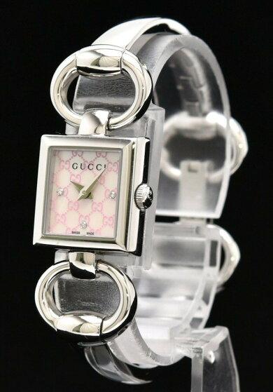 【ウォッチ】GUCCIグッチGGアイコンシェル文字盤ダイヤモンドSSレディースQZクォーツ腕時計120YA120518【中古】【s】