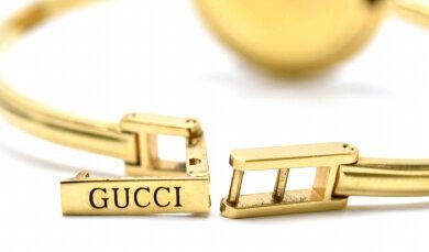 【ウォッチ】GUCCIグッチチェンジベゼルホワイト文字盤GPゴールドメッキレディースQZクォーツ腕時計11/12.2【中古】【s】