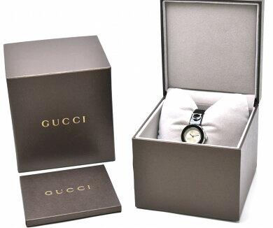 【ウォッチ】GUCCIグッチユープレイホースビットシルバー文字盤ブラックエナメルレディースQZクォーツ腕時計YA129514129.5【中古】【s】