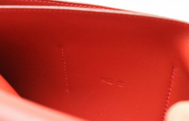 【財布】HERMESエルメスドゴンGM2つ折長財布長財布レザートゴレッド□Q刻印【中古】【s】