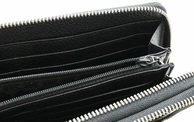 【財布】dunhillダンヒルディーエイトD-EIGHTトラベルコンパニオントラベルケースダブルファスナーレザーメンズ黒ブラックL2H714B【中古】【s】
