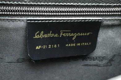 【バッグ】SalvatoreFerragamoサルヴァトーレフェラガモガンチーニハンドバッグ2WAYショルダーバッグレザー黒ブラックAF-212181【中古】【s】
