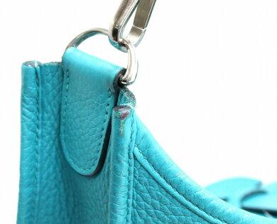 【バッグ】HERMESエルメスエヴリンエブリン3GMサイズショルダーバッグ斜め掛けトリヨンクレマンスブルーパオン青□R刻印【中古】【s】