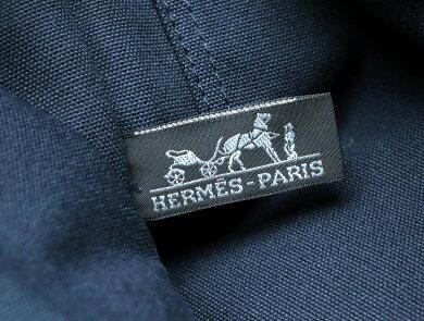 【バッグ】HERMESエルメスドーヴィルPMトートバッグハンドバッグキャンバス紺ネイビー【中古】【s】
