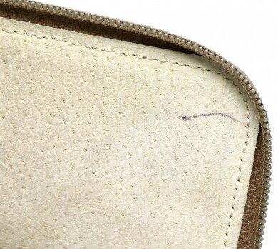 【バッグ】LOEWEロエベロゴアナグラムセカンドバッグクラッチバッグ書類ケースレザーイエロー系山吹色ベージュブラウン【中古】【s】