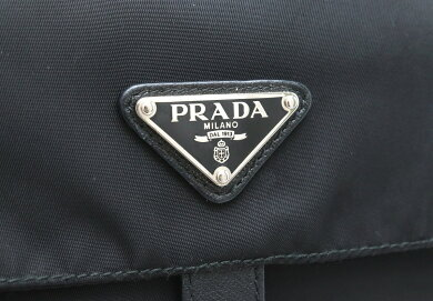 【バッグ】PRADAプラダショルダーバッグ斜め掛けナイロンレザーNERO黒ブラックBT8994【中古】【s】