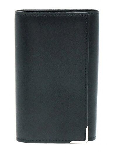 【未使用品】dunhillダンヒルキーケース6連キーケースレザーキーリング付きブラック黒シルバー金具MR5020A【中古】【s】