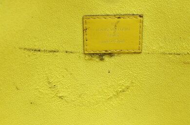 【バッグ】LOUISVUITTONルイヴィトンエピネヴァーフルPMトートバッグショルダーバッグピスタッシュイエロー系ポーチ欠品M40961【中古】【s】