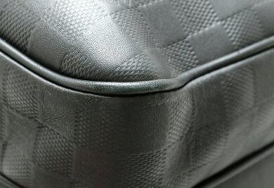 【バッグ】LOUISVUITTONルイヴィトンダミエアンフィニミカエルバックパックリュックサックリュックレザーオニキスブラック黒N41330【中古】【s】