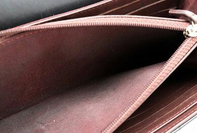 【財布】CHANELシャネルマトラッセ3つ折長財布ココマークレザーブラック黒シルバー金具A80758【中古】【s】