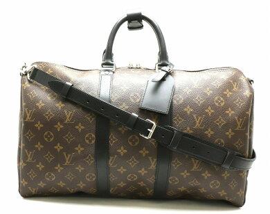 【バッグ】LOUISVUITTONルイヴィトンモノグラムマカサーキーポルバンドリエール45ボストンバッグ旅行カバンレザーイニシャル入りM56711【中古】【s】