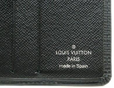 【財布】LOUISVUITTONルイヴィトンエピポルトビエ6カルトクレディ2つ折札入れレザーノワール黒ブラックM63312【中古】【s】