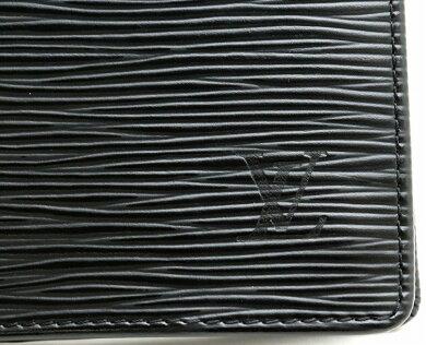 【財布】LOUISVUITTONルイヴィトンエピポルトフォイユブラザ2つ折長財布レザーノワール黒ブラックM60622【中古】【s】