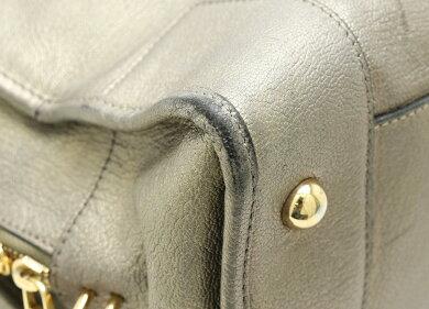 【バッグ】LOEWEロエベアマソナ36ハンドバッグミニボストンブロンズゴールドレザーゴールド金具311.12.002【中古】【s】