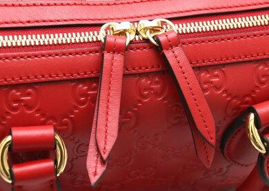 【新品未使用品】【バッグ】GUCCIグッチグッチシマハンドバッグショルダーバッグ2WAYボストンバッグ斜め掛けシマレザー赤レッド453573【s】