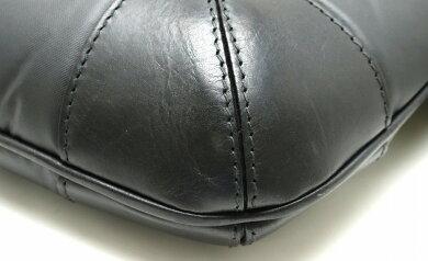 【バッグ】HUNTINGWORLDハンティングワールドバチューサーパスショルダーバッグ斜め掛けレザーナイロンブラック3551BSSBKBK【中古】【s】