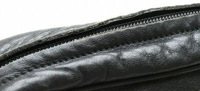 【バッグ】LOEWEロエベアナグラムショルダーバッグ斜め掛けレザーブラック黒【中古】