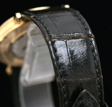 【ウォッチ】【新品仕上げ済】Breguetブレゲクラシック裏スケK18YGギロッシェ彫り文字盤イエローゴールドメンズ手巻き腕時計3917【中古】