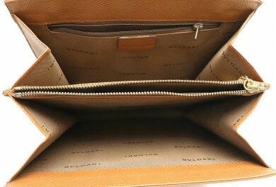 【バッグ】BVLGARIブルガリブルガリブルガリショルダーバッグワンショルダーセミショルダー肩掛け型押しレザーキャメルゴールド金具【中古】