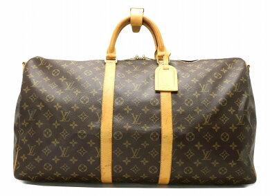 【バッグ】LOUISVUITTONルイヴィトンモノグラムキーポルバンドリエール55ボストンバッグ旅行カバントラベルバッグトラベルボストンM41414【中古】