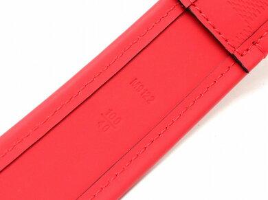 【未使用品】LOUISVUITTONルイヴィトンダミエアンフィニサンチュールスタンプベルト#100/40赤レッドシルバー金具M9122M9122S【中古】