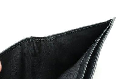 【未使用品】【財布】PRADAプラダ2つ折財布ロゴサフィアーノSAFFIANOレザーNEROブラック黒BALTICOネイビー紺2MO738【中古】