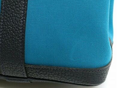 【バッグ】HERMESエルメスガーデンパーティTPMトートバッグショルダーバッグ肩掛けトワルアッシュカーフブルーブラック【中古】