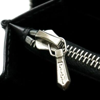 【財布】BVLGARIブルガリロゴマニアラウンドファスナー長財布デニムブラック黒21690【中古】
