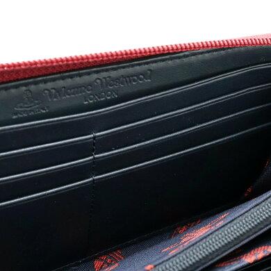 【財布】VivienneWestwoodヴィヴィアンウエストウッドオーブラウンドファスナーPVCレザーチェックレッド系マルチカラー5140V126V【中古】