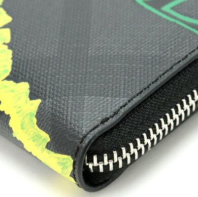 【新品未使用品】【財布】BURBERRYバーバリースケッチブックL字ファスナー長財布クラッチレザーブラック黒レッド赤イエロー黄色グリーン緑