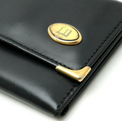 dunhillダンヒルオックスフォードレザーキーケース6連キーケースレザー黒ブラックゴールド金具【中古】