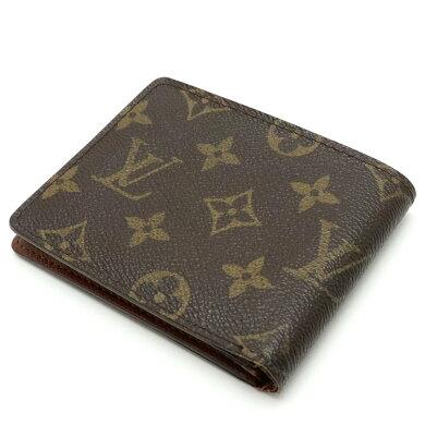 【財布】LOUISVUITTONルイヴィトンモノグラムポルトビエ9カルトクレディ2つ折札入れM60930【中古】