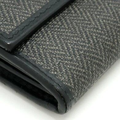 【財布】BVLGARIブルガリウィークエンド2つ折長財布レザーPVC黒ブラックグレー32585【中古】